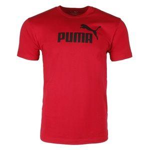 Puma Men's Short Sleeve Graphic T-shirt - RED